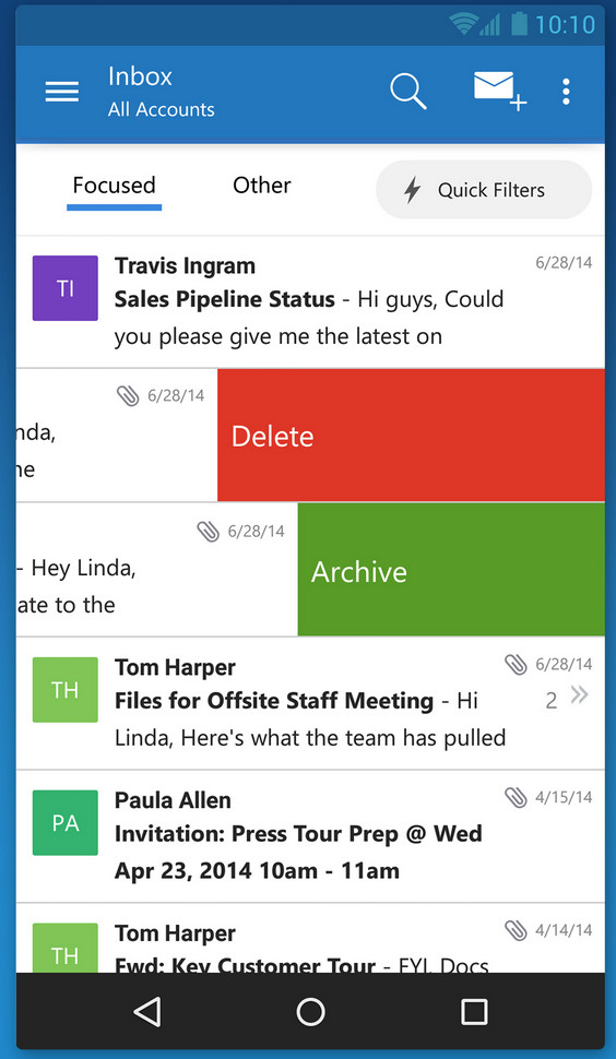 Outlook for iOS and Android – TechNine